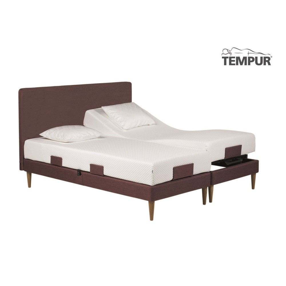 """Tempur Move elevationsseng """" INKL. TEMPUR COOLTOUCH PRIMA MADRAS 19 CM""""-03"""